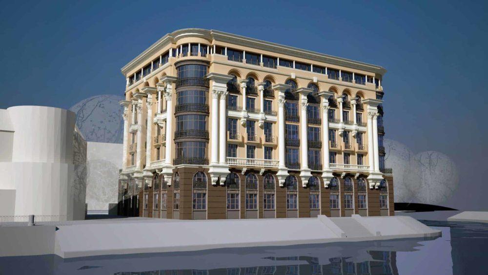 Проект многоквартирного дома на Крестовском острове.