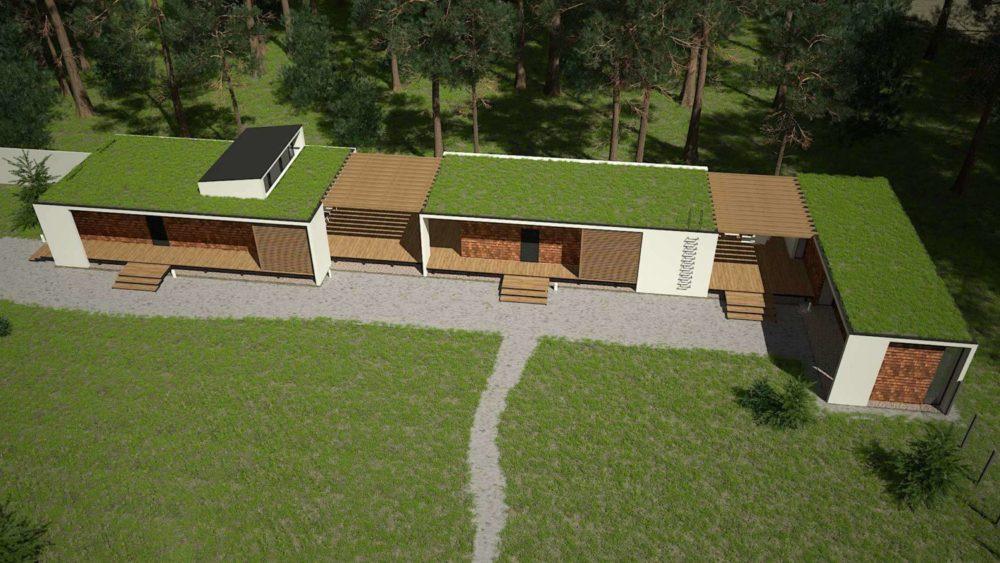 Посёлок Рощино. Гостевой дом. Баня и гараж.