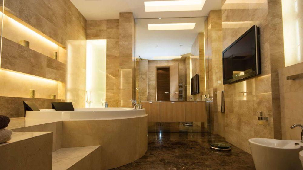 Интерьер ванной комнаты. Проект квартиры на ул. Востания 8.