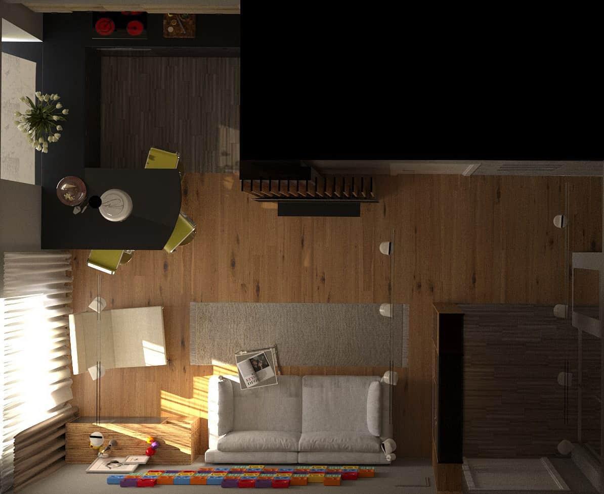 Дизайн интерьера квартиры на улице Нежинская