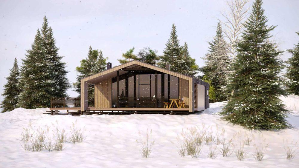 Проект серии модульных домов.