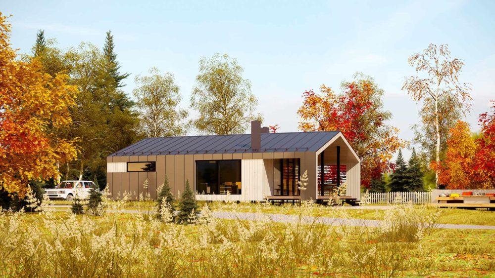 Модульный дом. Осень.