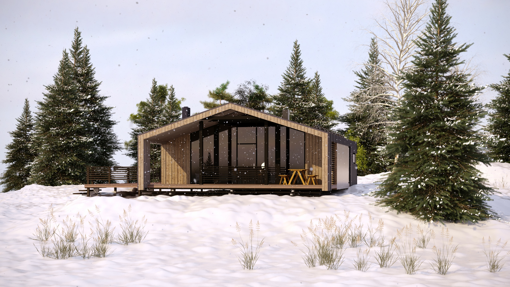 Блочно-каркасный дом на 50 м2
