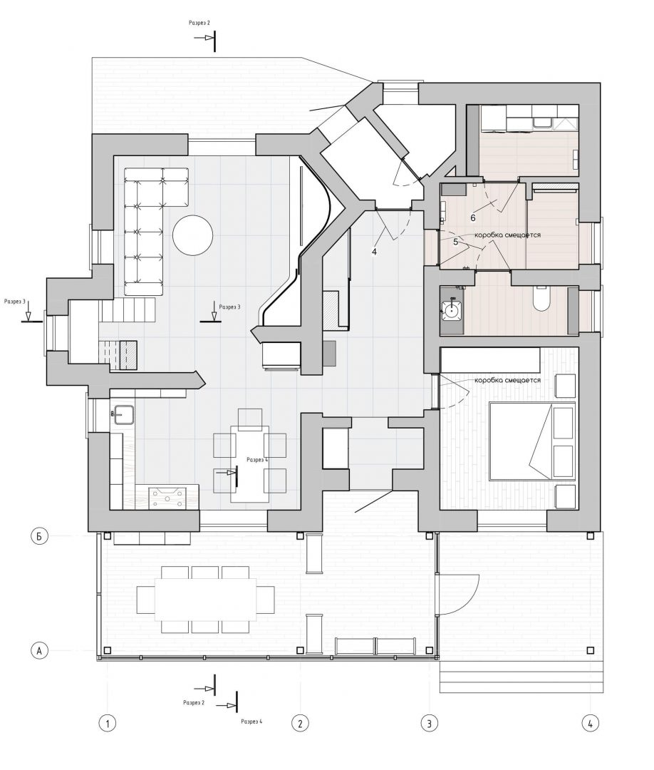 План первого этажа дома в Всеволожске